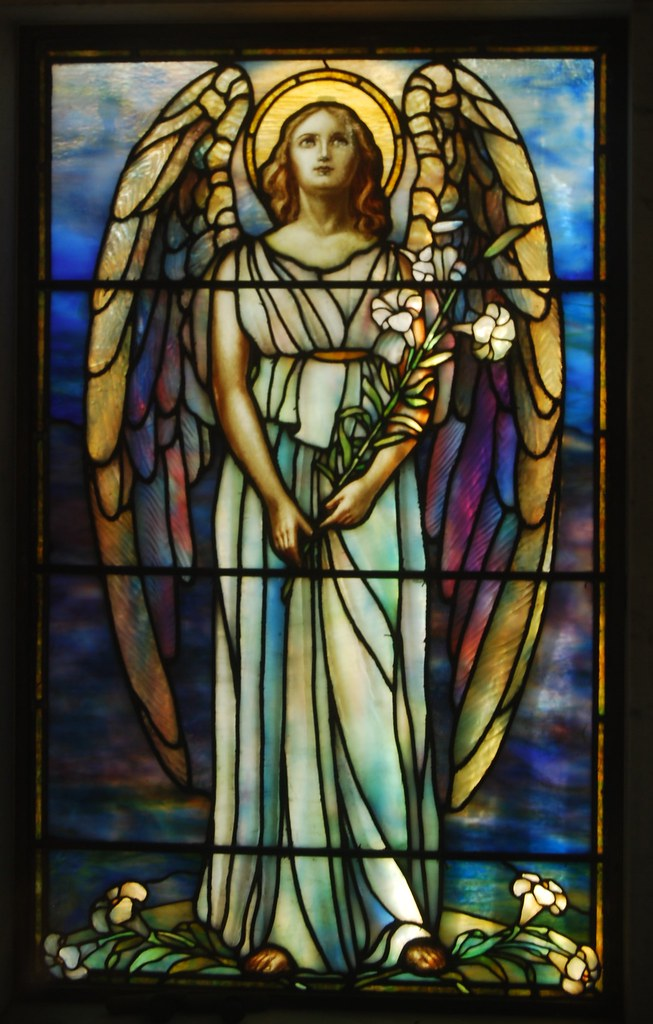 Rock Creek Cemetery - mausoleum's stained glass window