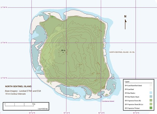 North Sentinel Island - EEVS Map (1-62,500)