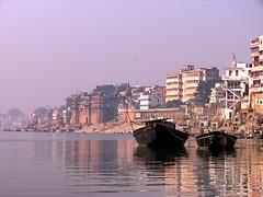 Ghats of Varanasi (Bhaskar Dutta) Tags: wallpaper india water river boats scenery varanasi ritual tradition ganga ghat