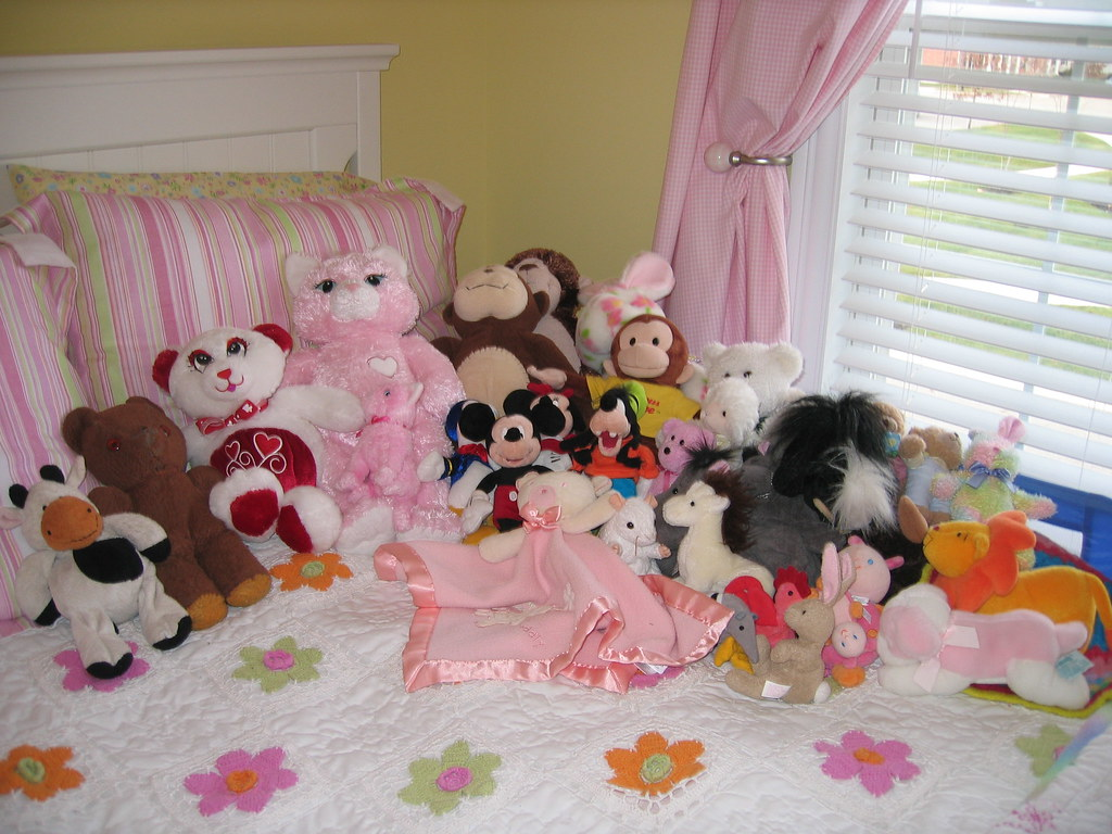 Anatomy of a four year-old girl's bed