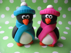 Cute Together (fliepsiebieps1) Tags: winter sculpture cute bird penguin crafts polymerclay clay figure