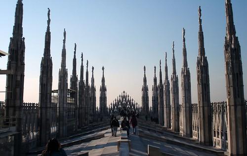 Sul tetto di Milano