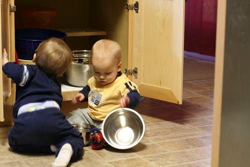 Boys Cooking in the Kitchen