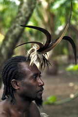 Human bird of paradise, Vanuatu (Eric Lafforgue) Tags: island explore blackpeople ethnic headdress plume headwear ethnology headgear vanuatu oceania ebridi ethnologie coiffe 10570 h3d oceanie ethnique lafforgue ethnie ericlafforgue nouvelleshebrides ericlafforguecom ocenie vanuatupicture vanuatupictures  wanuatuneue hebridennew hebridesnieuwe hebridennouvelleshbridesnuevas hbridasnuove