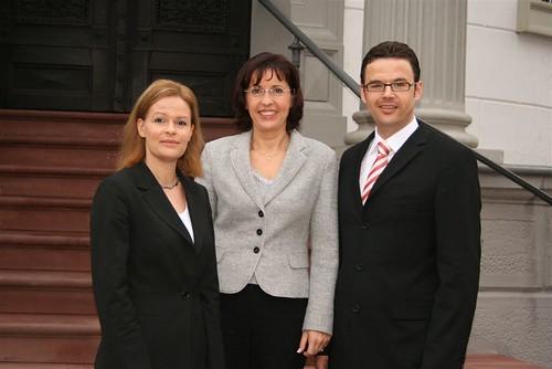 Andrea Ypsilanti mit Nancy Faeser und Jürgen Walter
