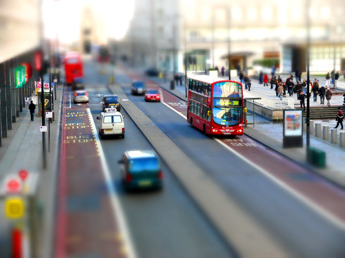 Tiltshift, outside Waterloo station