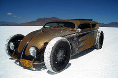 Volksrod at Bonneville 2007 (Boxer Metal) Tags: hot car northerncalifornia metal vw volkswagen four amazing cool rust sewing welding awesome salt rusty canterbury rusted hotrod vehicle leopardprint vee norcal custom dub bonneville volkswagon metalworking welded ratrod c4 fabricated pinstriping pinstriped speedweek fabricating volksrod canterburyfour