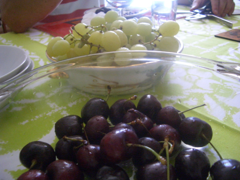 Cherries and grapes