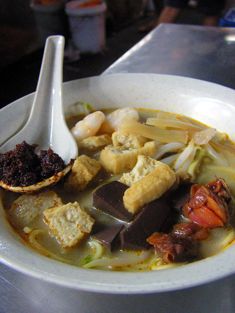 Seafod curry mee, Penang