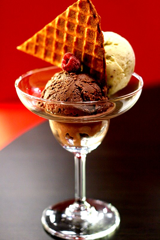 chocolate raspberry and pistachio ice cream