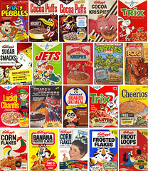 Cajas de cereales (IsraSeyd) Tags: food illustration breakfast milk box trix 50 80 cereals esmorzar desayuno cereales 70 90 cornflakes leche frosties 60 kelloggs ilustracion krispies frootlops