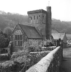 Country church B&W (Isabella Perry) Tags: 2002 england bw church architecture country scanned smrgsbord eastdevon betterthangood theperfectphotographer