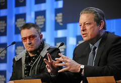 Bono, Al Gore - World Economic Forum Annual Meeting Davos 2008