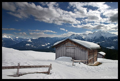 Foppa (Marcel Cavelti) Tags: schnee sky snow clouds landscape switzerland himmel stall explore flims swissmountains graubnden grisons blueribbonwinner digitalblending abigfave aplusphoto