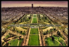 Champ de Mars from the Eiffel tower (*bratan*) Tags: panorama paris france bravo cityscape eiffeltower toureiffel champdemars hdr firstquality photomatix bratanesque reposetoibisousetmerci sitltupeallersurmonstreamilyaphotoenprivatemerci comeonlol