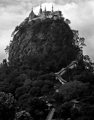 Myanmar- Mt.Popa (luca marella) Tags: travel bw white black photo asia burma pb bn mount holy monastery e popa bianco nero marella birmania freeburma bnpaesaggio marellaluca burmafree