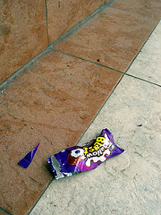 Litter Outside The Temple