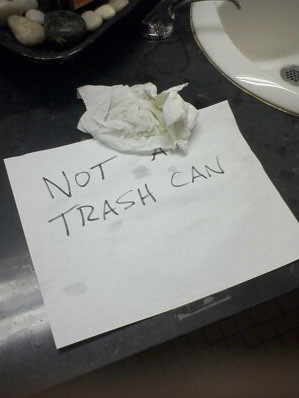 NOT A TRASH CAN