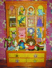 Toy Cabinet 2 (Rainbow Mermaid) Tags: orange baby house color colour cute art yellow glitter kids children stars toy toys star robot miniature starwars bedroom colorful doll dolls play bright cabinet furniture handmade assemblage vibrant hellokitty nursery decoration craft kitsch mini retro shelf ornament tiny pullip blythe colourful hutch etsy dresser glittery shelves cupboard starry dollhouse alteredart knickknack playroom doodad rainbowmermaid