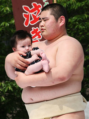 I'm not so sure about this, guys (vyxle) Tags: baby festival japan sensoji japanese tokyo crazy scary tears babies fat c crying sumo scared asakusa wacky wah ahmunnaeatchoo nakizumo