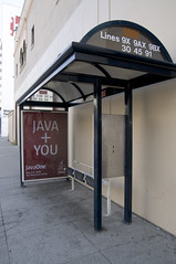 """Java + You"" Bus Stop, San Francisco"
