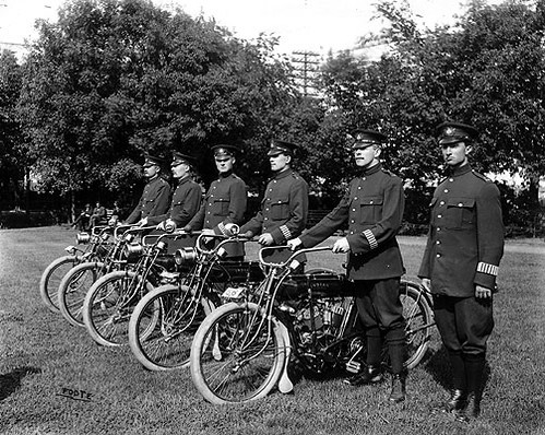 Police Dept Bicycle Corps c 1912
