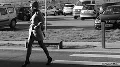 Beauty in the street (patrick_milan) Tags: noiretblanc blackandwhite noir blanc monochrome nb bw black white street rue people personne gens streetview féminin femal femme woman women girl fille belle beautiful portrait face candide talonshautshighheels