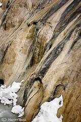 Canyon Wall Snow 20   9144 (Harvey Brink - Canadian Visuals) Tags: canada ice rock pattern formation alpine alberta rockymountains streaks banffnationalpark johnstoncanyon