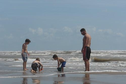 Four Men On the Beach