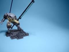 HKUA-series Interchangeable Combat Droid (justin pyne) Tags: fiction robot energy lego space mashup science racing lance axe fi pike challenge sci mecha mech racer hardsuit