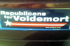 Moblog: Finally, Someone to Rally Around! (John 3000) Tags: auto car sign moblog bush funny phone clinton political harrypotter books satan cheney bumpersticker vote obama mccain gop teaparty bumperstickers romney palin giuliani ronpaul mittromney republicansforvoldemort mustbeagopbacklashagainstthatwholedumbledoreisgaything