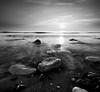 Another Planet (lowbattery) Tags: longexposure sunset sea blackandwhite white mist black water grey rocks smoke pebbles eastbourne squarecrop beachyhead birlinggap anotherplanet