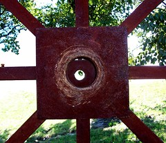 SQUARE HOLE (LinBow) Tags: trees square iron hole rusted soe mywinners flickrgold anawesomeshot citrit onlythebestare betterthangood