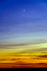 A Lonely Moon (the_anim8r) Tags: sunset sky moon toronto nature colors catchycolors lost alone dusk single lonely 500views magical crescentmoon instantfave 100fav 35faves balconyshot 25faves golddragon abigfave impressedbeauty aplusphoto favemegroup4 diamondclassphotographer artlegacy betterthangood thegardenofzen thegoldendreams