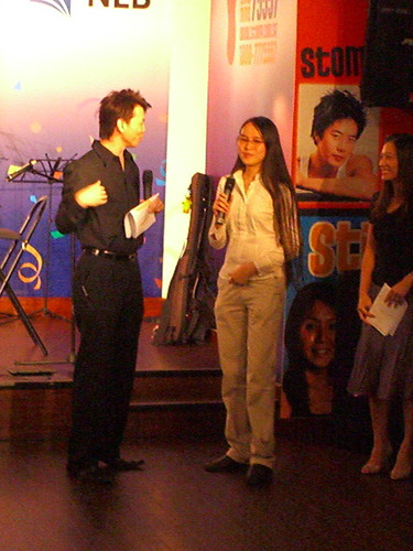 There was a prize-giving to winners of a loan promotion (iPod Nanos!