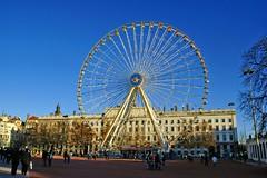 Lyon - The big wheel of Bellecours