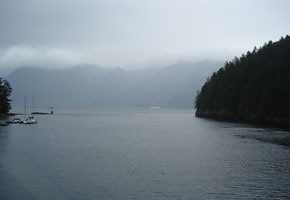 Bowen Island and the coast mountains on a rainy day, like Northern Iran's Caspian region, again reminding Iranians of home.