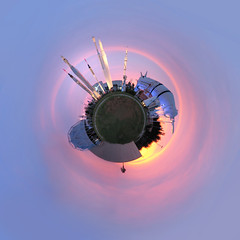 Planet NASA (Roloff) Tags: sunset panorama space science panoramic nasa planet rocket rockets rocketgarden