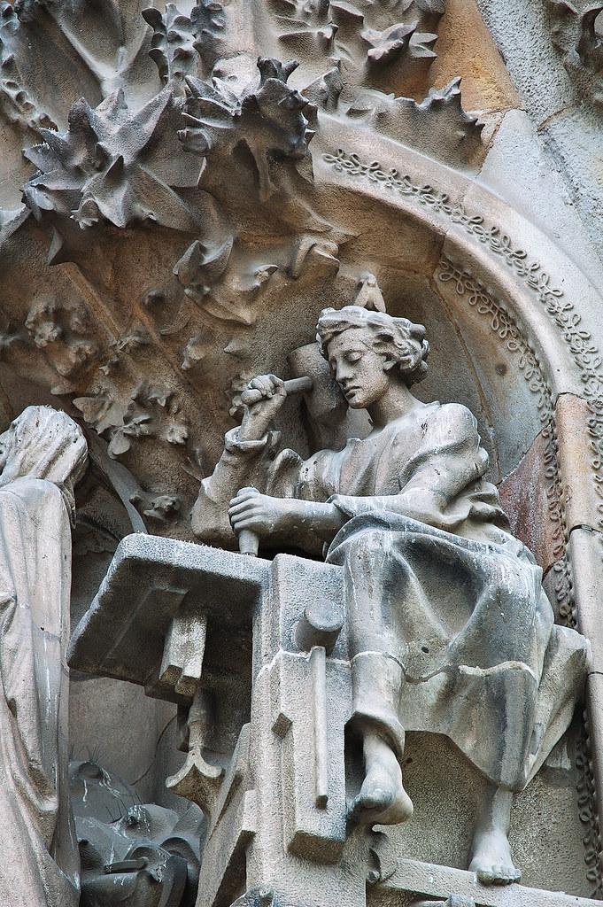 Barcelona Photoblog Detail Of Faith Hallway Or Entry In