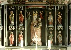 Mulsum, Cuxland, Marienkirche, altar, detail (groenling) Tags: saint angel maria mary jesus altar marienkirche engel heilige mulsum cuxland