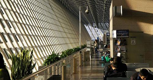 Cámara de seguridad en el aeropuerto de Shangai