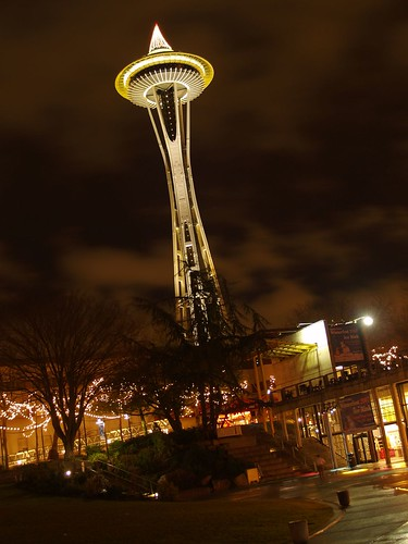 夜晚的Space Needle