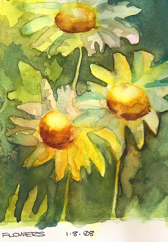 watercolor paintings of flowers. Watercolor Sketch - Flowers
