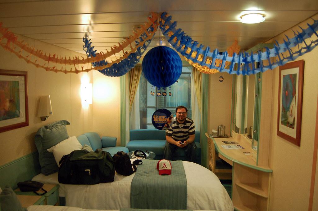 Royalcaribbean Stateroom Birthday Time NBJones Tags Cruise Decorations Vacation Gulfofmexico Cabin Ship Room