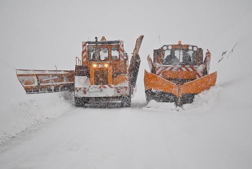 Chasse neige à Anéou en Vallée d'Ossau