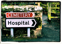 Oh dear!. (Ian McWilliams.) Tags: life signs cemetery sign hospital death funny sad best nhs irony laugh signpost guide cry brilliant 5050 thebest insecure hillarious macaz1977