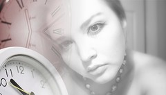 Time After Time (F. C. Photography) Tags: portrait blackandwhite bw selfportrait love clock composition creativity necklace poem emotion time memory montage feeling sight effect glance anawesomeshot d40x flaskbacks