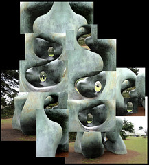 Photocollage - Henry Moore sculpture, Kew Gardens (13 - L...