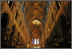Notre Dame (Altair █♥█) Tags: paris architecture dark point arch cathedral gothic arches notredame ribs haunting vanishing vaults aplusphoto