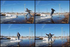 Day 98 (BiG-ShoT) Tags: blue winter snow me water grey jump thechallengegame challengegamewinner